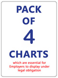 Pack of Six Charts